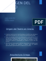 El Origen Del Teatro Lenguaje 8º