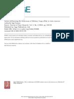 FOSSUM - Factores Influyentes en Los Golpes de Estado en América Latina