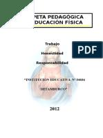 Carpeta Pedagogica e.f. Tamburco