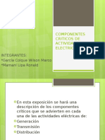 Componentes Criticos en Actividades Electricas