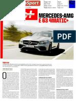 Mercedes E AMG 63S | Ensaio no jornal AutoSport