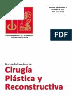 CIRUGÍA PLÁSTICA Y RECONSTRUCTIVA, REVISTA COLOMBIANA. VOL.22, Nº 2 DICIEMBRE DE 2016
