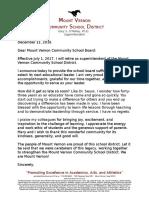 Gary O'Malley retirement letter