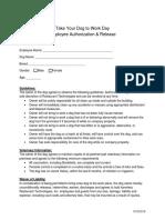 Employee Authorization & Release 2016