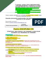 Cerințe Finale CFA Si METODOLOGIE