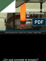 Modelización de Un Ensayo de Templabilidad Por MEF