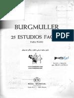 Burgmuller 25 Estudios Faciles Para Piano