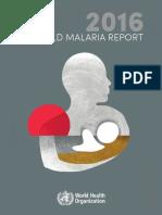 WHO_WORLD MALARIA REPORT 2016