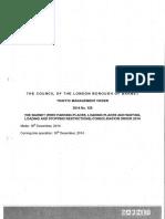 Barnet Council 2014 Traffic Management Orders