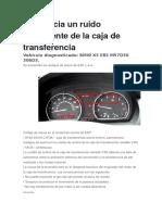 5F3A 24378 C1F3A Ruido Procedente de La Caja de Transferencia BMW X3 E83