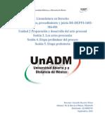M6Unidad2.Preparación y desarrollo del acto procesal