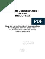 Guia de Normalização de Monografias, Dissertações e Tese - SENAC