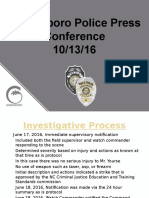 Timeline in GPD Officer Cole Investigation