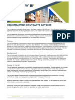 Construction Contracts Act 2013 Article