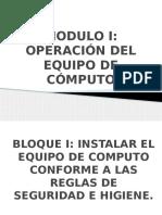 Operacion Del Equipo de Computo