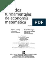 Métodos fundamentales de economía matemática Alpha Chiang (Primeras paginas y parte 1). [Alta calidad]