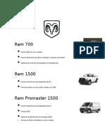 Fichas tecnicas de vehiculos