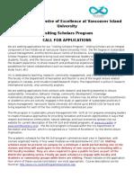 Visiting Scholar Application 2017-18