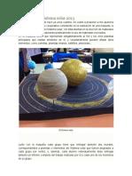Maquetas Del Sistema Solar 2013