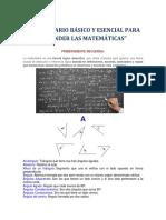 Vocabulario Básico y Esencial Para Entender Las Matemáticas