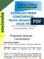 Redacao.sonia.cef2012 Aula05