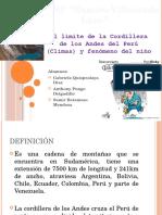 Limite de La Cordillera de Los Andes