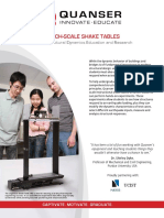Shake Tables and Smart Structures System
