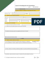 Cuestionario Homologaciòn de proveedores