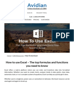 The Top Formulas and Functions You Need to Know