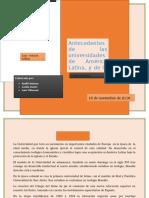 Antecedentes de Las Universidades Latinas 2 CS