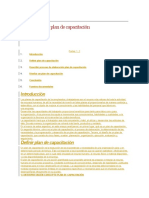 Elaboración de Plan de Capacitación