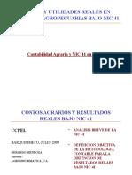Costos y Utilidades Reales Bajo NIC 41-V