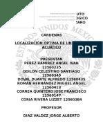 Proyecto de Localizacion de Un Parque Acuatico
