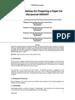 6. INSIGHT Paper Format