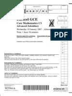 January 2007 QP - C1 Edexcel
