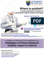 Where to publish? A Journal selection procedure for receiving the highest citation and impact