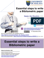 Essential steps to write a Bibliometric paper