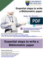 Essential steps to write a Bibliometric paper