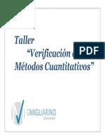 Taller Verificacion de Procedimientos de Medida Cuantitativos