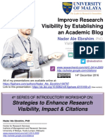 Improve Research Visibility by Establishing an Academic Blog