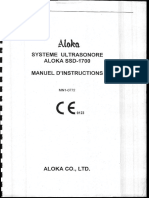 Manuel Echographe Aloka1700