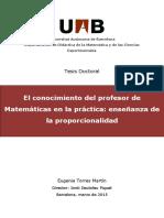 Jordi D. Enseñanza de la proporcionalidad