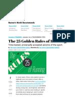 25 Golden Rules of Running