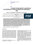 The Efficiency of Fan-pad Cooling System in Greenhouse