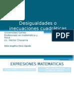 Desigualdades o inecuaciones cuadráticas