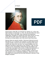 A Short Biography of Mozart