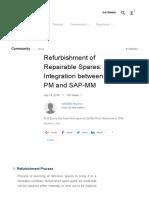 Refurbishment of Repairable Spares_ Integration Between SAP-PM and SAP-MM _ SAP Blogs