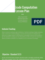 third grade computation lesson plan
