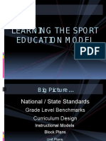 sport education model lecture - fall 2016