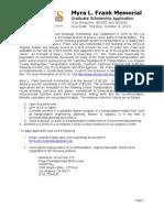 2010 MLF Graduate Application